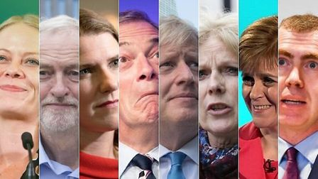 Sian Berry for the Greens, Jeremy Corbyn for Labour, Jo Swinson for the Lib Dems, Nigel Farage for t