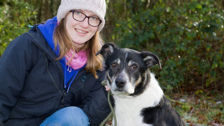 Hannah from ARC with Indy the collie. Ref sho 04 19TI 8751. Picture: Terry Ife