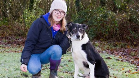 Hannah from ARC with Indy the collie. Ref sho 04 19TI 8747. Picture: Terry Ife