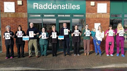 Staff have been celebrating this week after receiving the 'outstanding' award. Picture: Raddenstiles
