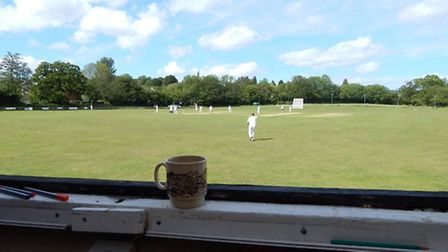 Cricket. A view from the score box