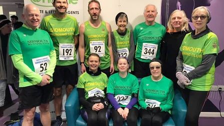 Sidmouth Running Club members that took part in the Exmouth Express 5. Picture SIDMOUTH RUNNING CLUB