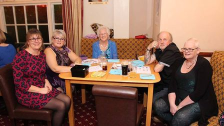 Members of the Sharland family enjoying the disco and quiz which raised £755.50 for FORCE and ELF. P