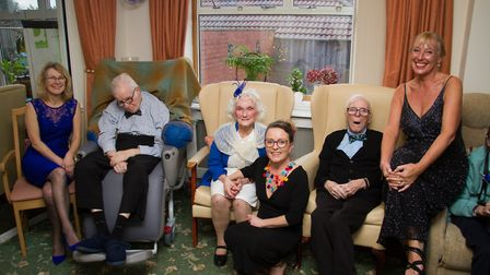 Ali Tyler (right) manager at Ridgeway Care Home organised a Winters Ball for the residents. Ref shs