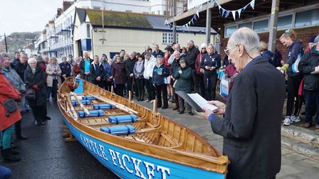 Naming ceremony of Little Picket (2017). Picture: Keith Owen Fund