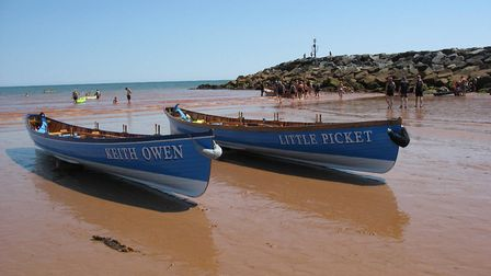 Gigs Keith Owen (2010) and Little Picket (2017) on Sidmouth Beach. Picture: Keith Owen Fund