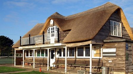 Sidmouth Cricket Club pavilion re-thatched in 2008. Picture: Keith Owen Fund