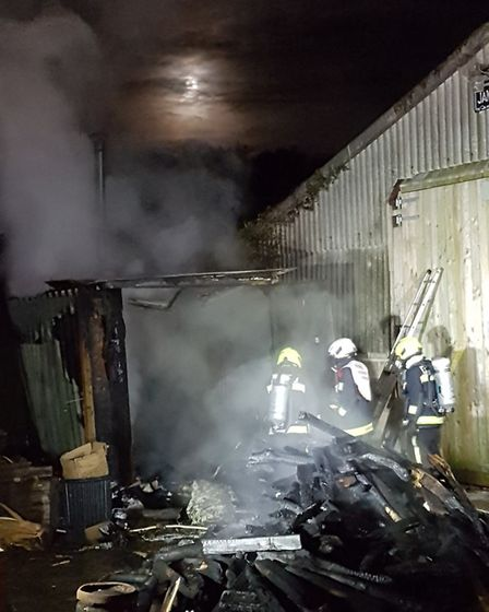 Both Sidmouth pumps were sent to an outbuilding on fire at Rockhayne Lane Branscombe. Picture: Devon