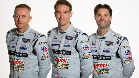 Harry Tincknell with his team mates ahead of the start of the 2019 season.