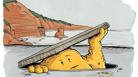 Illustrator Nathan T.Wright was commissioned by South West Water to create the cartoon. Picture: Na