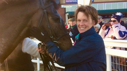 Polly Grundy with Dawson City who will be going for back-to-back Devon National wins at Exeter.