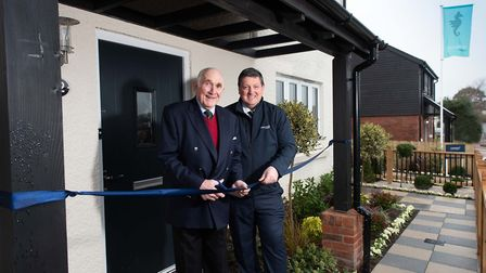 Lord Clinton officially opens the Cavanna Homes show home at Alfreds Gate with Cavanna Homes MD Keit
