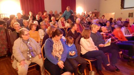 The audience benefited from new tiered seating provided by an Awards for All Lottery grant. Picture: