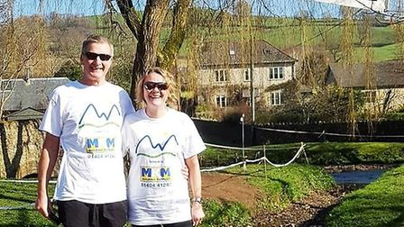 Don Cawthera and Debbie Marriott at the Dalwood Three Hills Challenge. Picture SRC