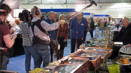 Bargain Hunt teams in action at Exeter's Antiques and Collectors' Fair at Westpoint