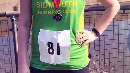 Sidmouth RCs Laura Broughton after the Exeter 10k. Picture SRC