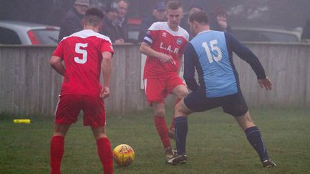 Ottery away at Beer. Ref shsp 08 19TI 0293. Picture: Terry Ife