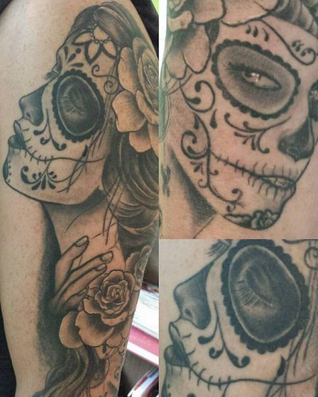 Some of the artwork done at the studio. Picture: Silver Street Tattoos