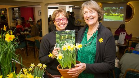 Organiser Sally Blyth with Lady Christine Skelmersdale at last year's Daffodil Day at Kennaway House