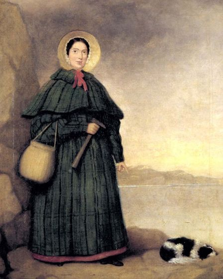 A picture of Mary Anning on one of her fossil hunting trips at Lyme Regis. Picture Supplied