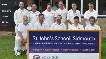 The Sidbury CC side before their last weekend's meeting with Newton Poppleford.