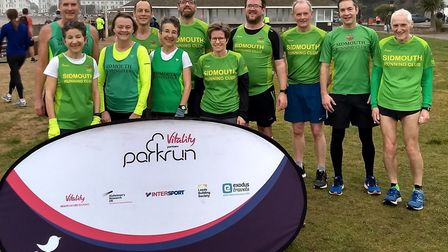 Sidmouth Running Club members at the Exmouth Parkrun.Picture SRC