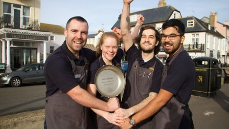 Sid Valley Rotary club pancake races winners for this year are Dan Colson,Laura Clode,Jonah Lloyd an