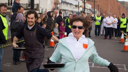 Sid Valley Rotary club pancake races. Ref shs 09 19TI 0619. Picture: Terry Ife