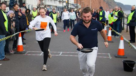 Sid Valley Rotary club pancake races. Ref shs 09 19TI 0613. Picture: Terry Ife