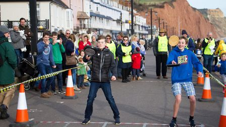 Sid Valley Rotary club pancake races. Ref shs 09 19TI 0570. Picture: Terry Ife