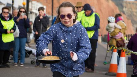 Sid Valley Rotary club pancake races. Ref shs 09 19TI 0567. Picture: Terry Ife