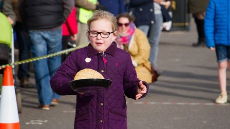 Sid Valley Rotary club pancake races. Ref shs 09 19TI 0554. Picture: Terry Ife