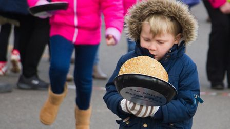 Sid Valley Rotary club pancake races. Ref shs 09 19TI 0532. Picture: Terry Ife
