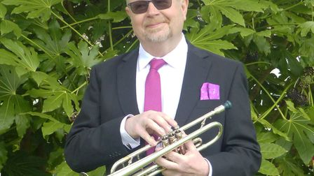 Trumpet player Andy Dickens. Picture: Henri Rosenberg