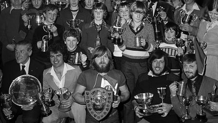 Sidmouth Sailing Club trophy winners. Dated February 10, 1979.