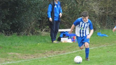 Freddie Clark, who was the Ottery St Mary U13s Man of the Match in the 4-1 win over North Tawton. Pi