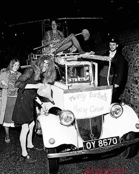 Ottery St Mary carnival procession of 1972. Ref shs Ottery Carnival Nost 1972-1. Picture: Sidmouth H