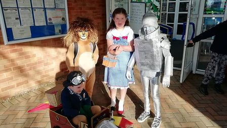 Chitty Chitty Bang Bang and The Wizard of Oz are the inspiration for these World Book Day costumes.
