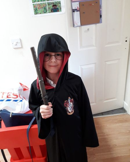 You're a wizard Zach, the youngster is one of many dressing up as Harry Potter this World Book Day.