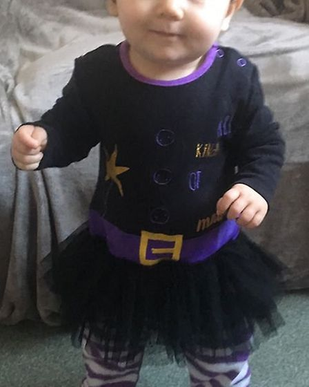 11 month old Scarlett dresses up from That's Not My Witch. Picture: Hannah Wright