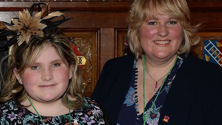 Charlotte and Angela Reid at a Brain Tumour Research reception in 2018. Picture: Brain Tumour Resear