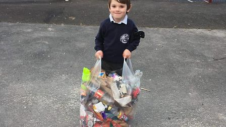 Brody Bray has been praised for his efforts to clean up around Manstone Lane. Picture: Clare Luke