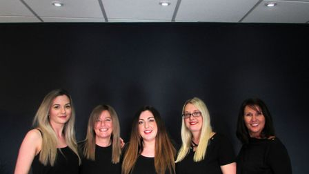 Blunt Hair Salon has now opened, pictured are members of the team Jo Borkowski, Sarah White, Dannii