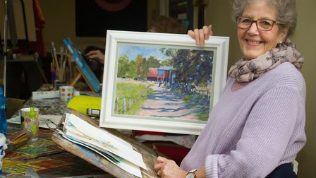 Maureen Stone at Otter Vale Arts Society. Ref edr 04 19TI 8681. Picture: Terry Ife