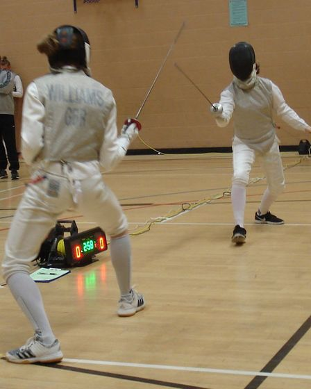 Grace Williams in action in action in the foil. Picture SEDFC