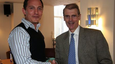 Dr Ed Morris from the Sid Valley Practice, (right) who is retiring after more than 30 years of servi