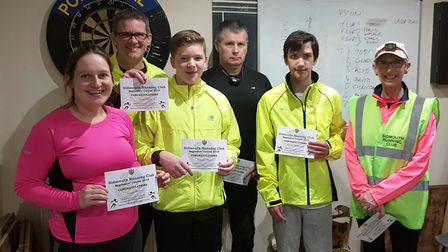 The Sidmouth Running Club Three Mile Challenge successes, Jessica Daer, Jason and Tristian Chipps, A