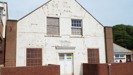 The front of the drill hall.