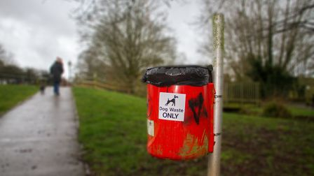 A dog poo bin at the land of canaan in Ottery. Ref sho 10 19TI 0713. Picture: Terry Ife