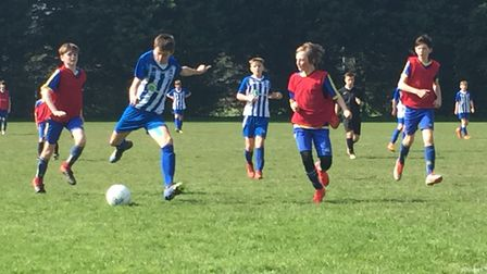 Ottery St Mary U13 midfielder Jake Blackmore impressed in his side's 4-0 win over Okehampton in an E
